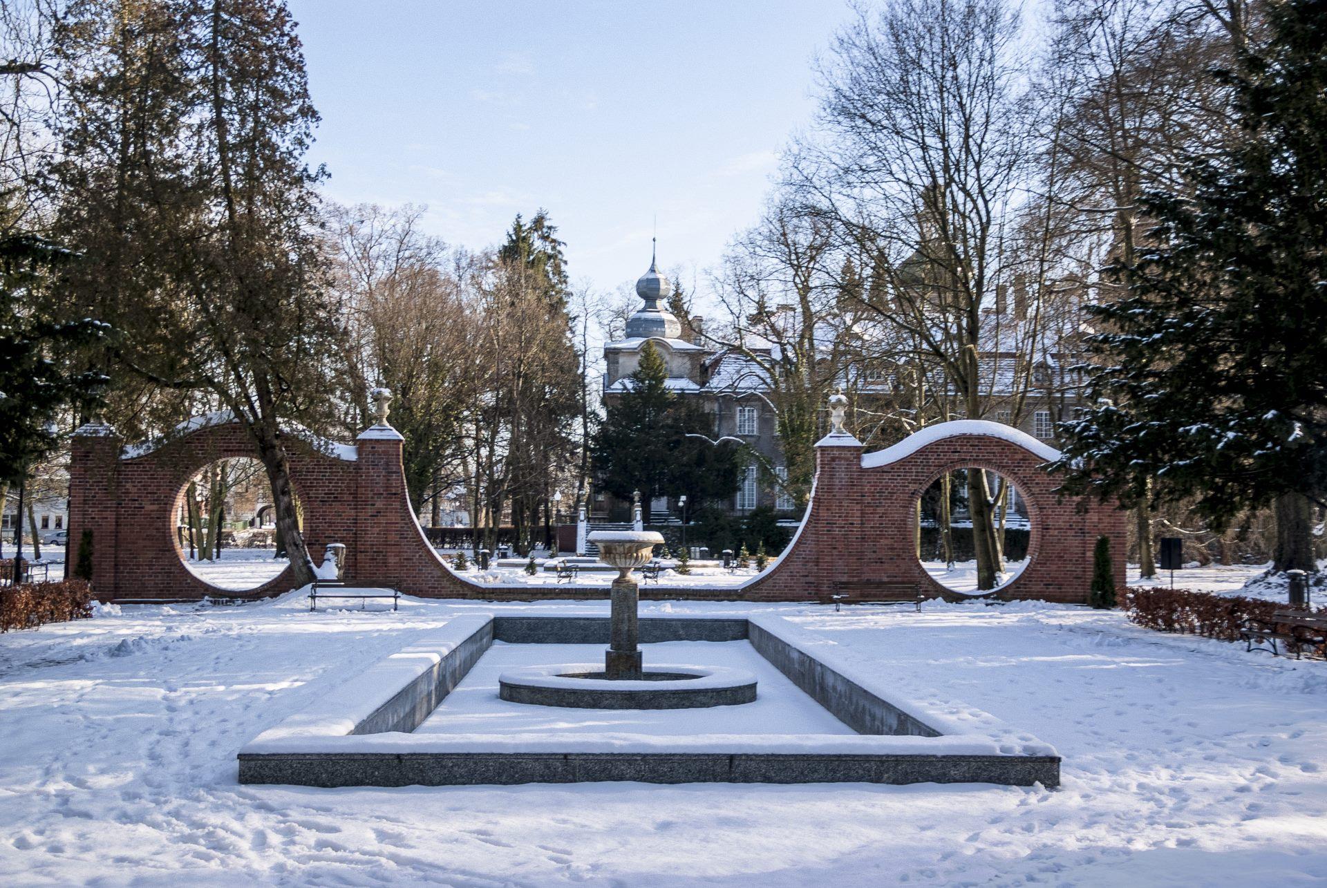 Japanese garden Iłowa - winter