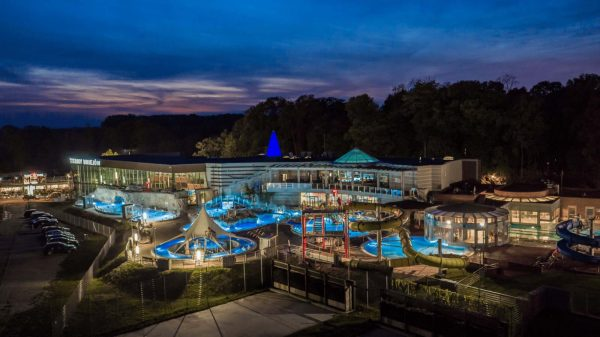 Uniejów Thermal SPA in the evening