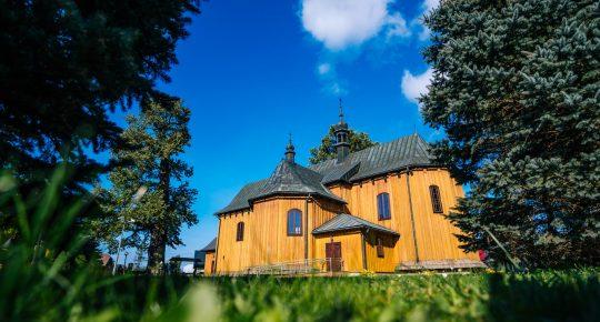 Holzkirchen -Drewniany zabytkowy kościół,