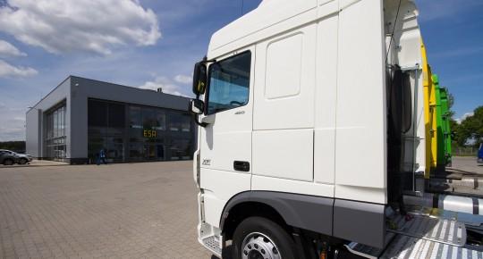 White truck in the Special Economic Zone Iłowa