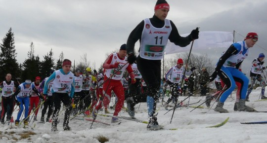 Cross country skiing trails on Magurka Mountain