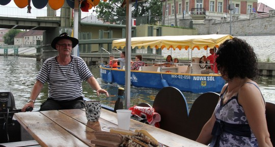 Boat trip on the Oder