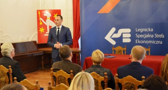 Mayor of Iłowa in a meeting with investors