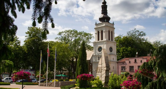 Fountain on the market place in Uniejów